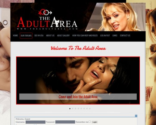 the adult area, adult forums