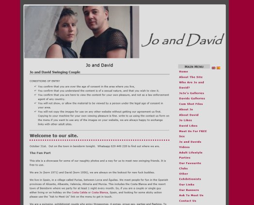 jo and david, swinging exhibitionists